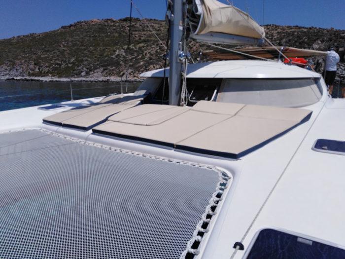 Okeanos Large sunbed area on all catamarans